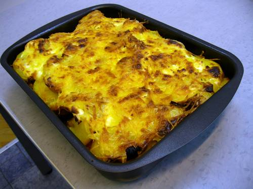 Potato casserole - authentic Hungarian speciality